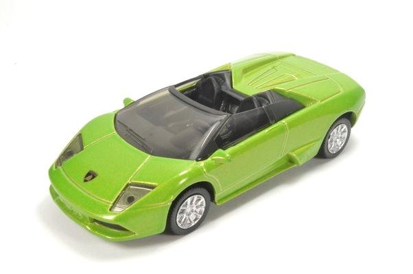 De groene Lamborghini Murciélago Roadster